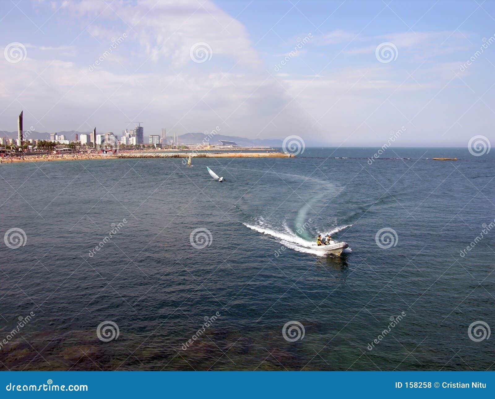 Speed Boat - Barcelona Coastline