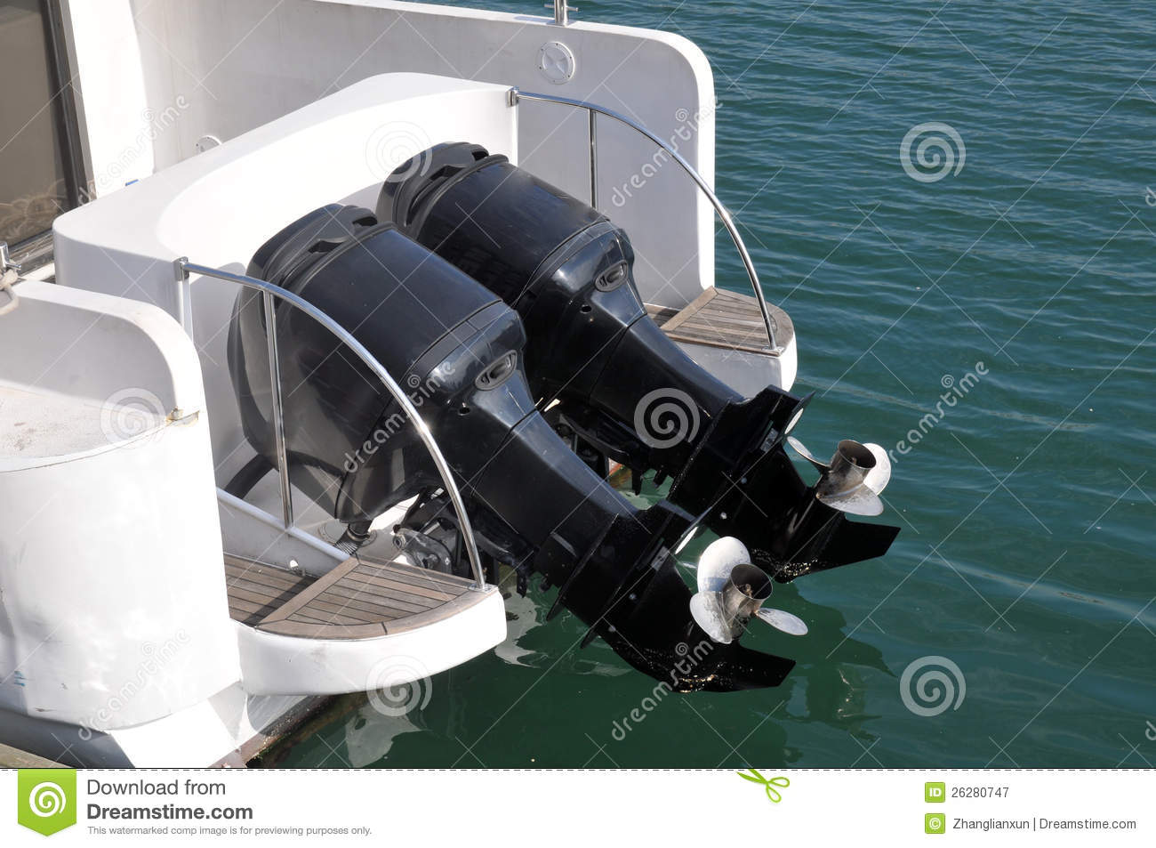 Speed Boat Engines Royalty Free Stock Photography - Image: 26280747