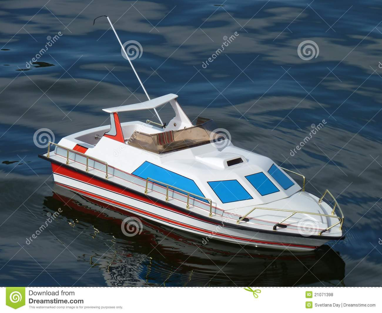 Speed Boat Model on the water.
