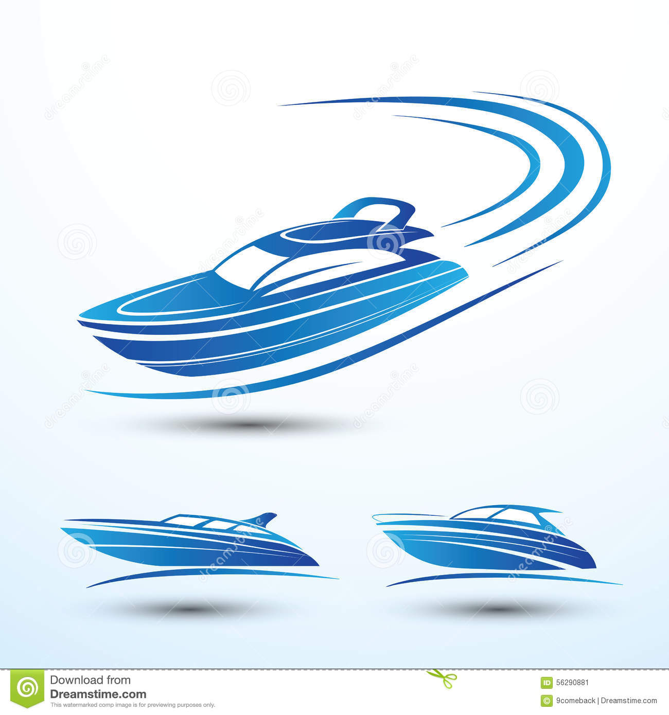 Speed boat stock vector. Image of holiday, boating, yacht - 56290881