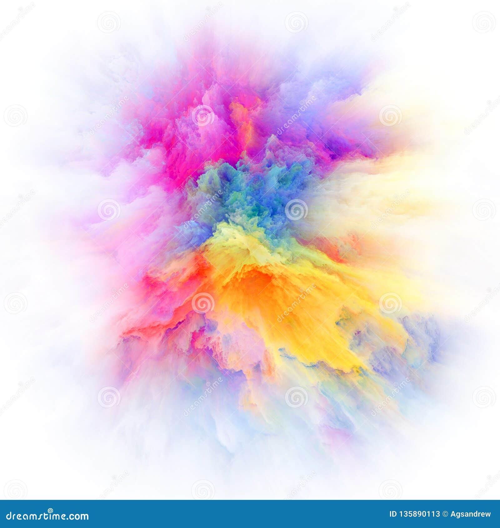 Speed Of Colorful Paint Splash Explosion Stock Illustration Illustration Of Smoke Design 135890113