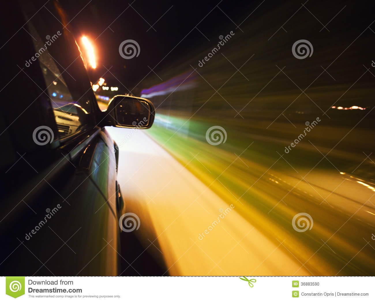 speed driving in los angeles with bright city ligh royalty free stock photo. Black Bedroom Furniture Sets. Home Design Ideas