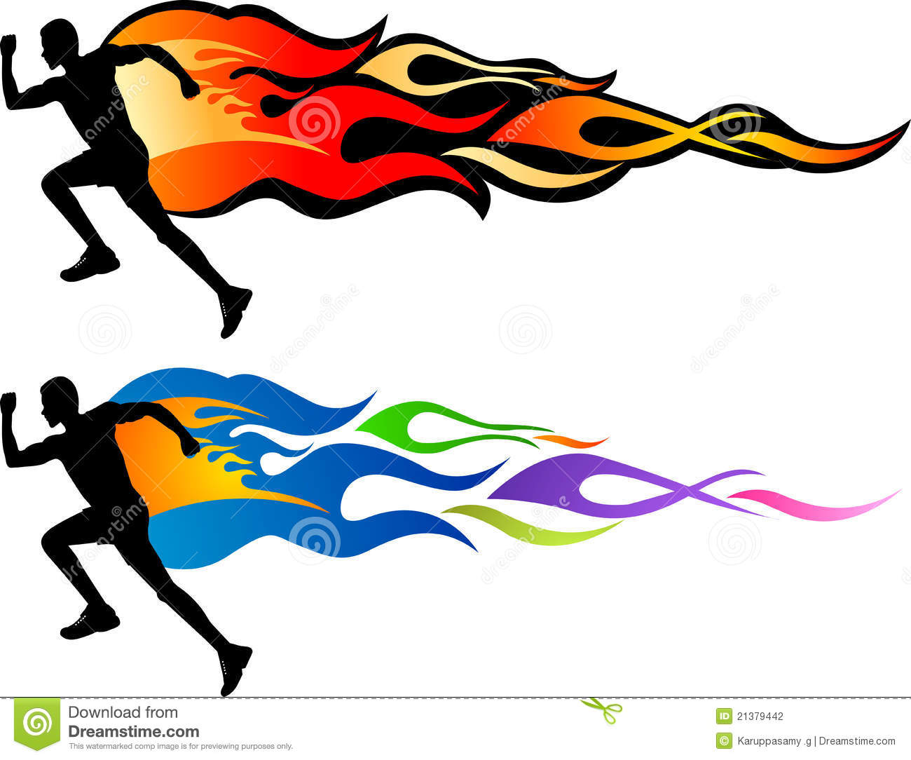 speed flame man stock photography image 21379442
