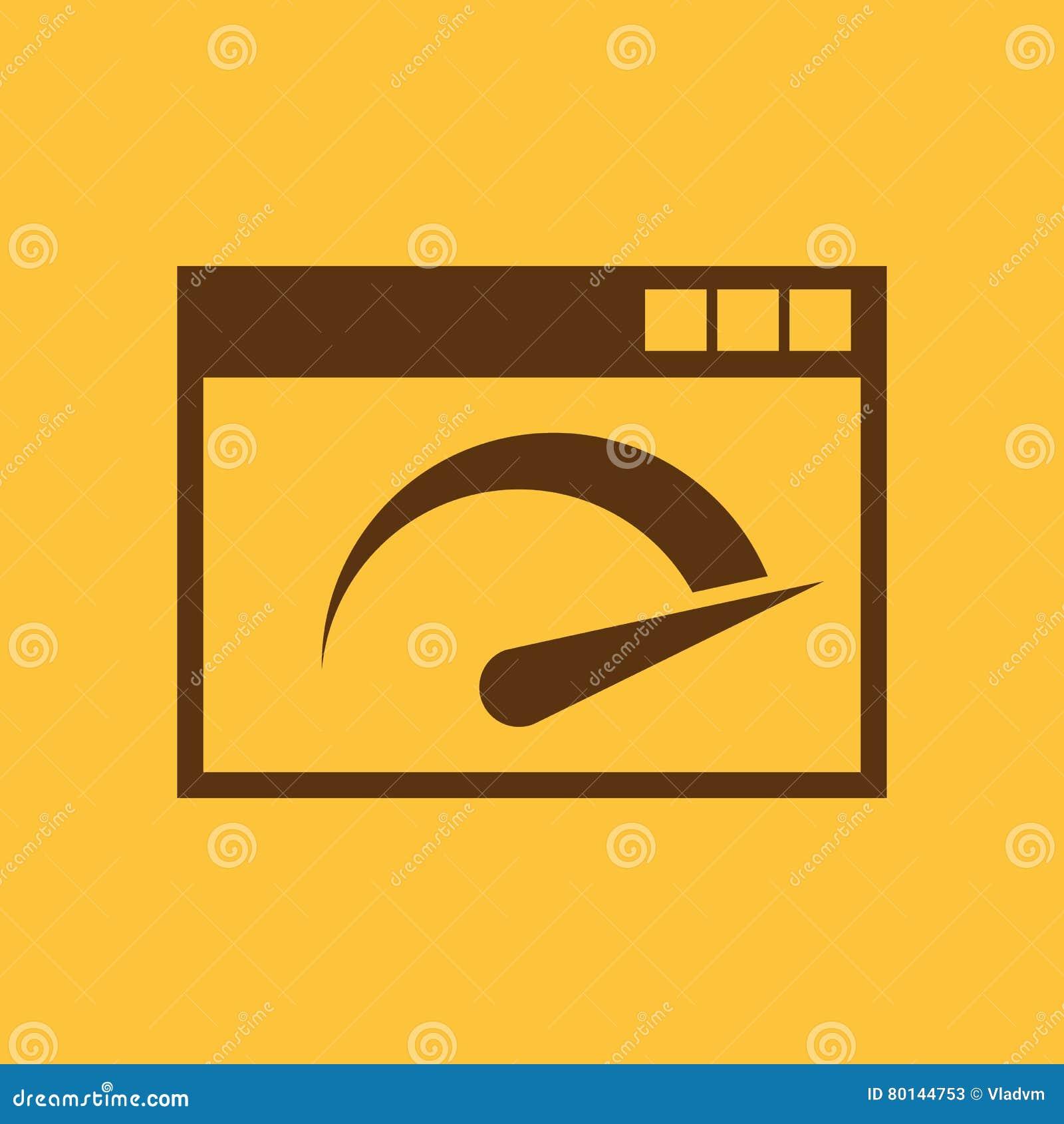 Speed Internet Test Icon. Vector Design. Speed Test Symbol ...