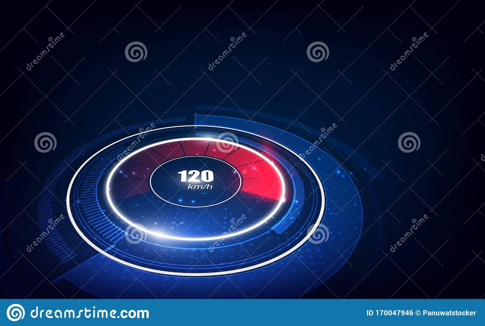 Speed Motion Background With Fast Speedometer Car. Racing ...
