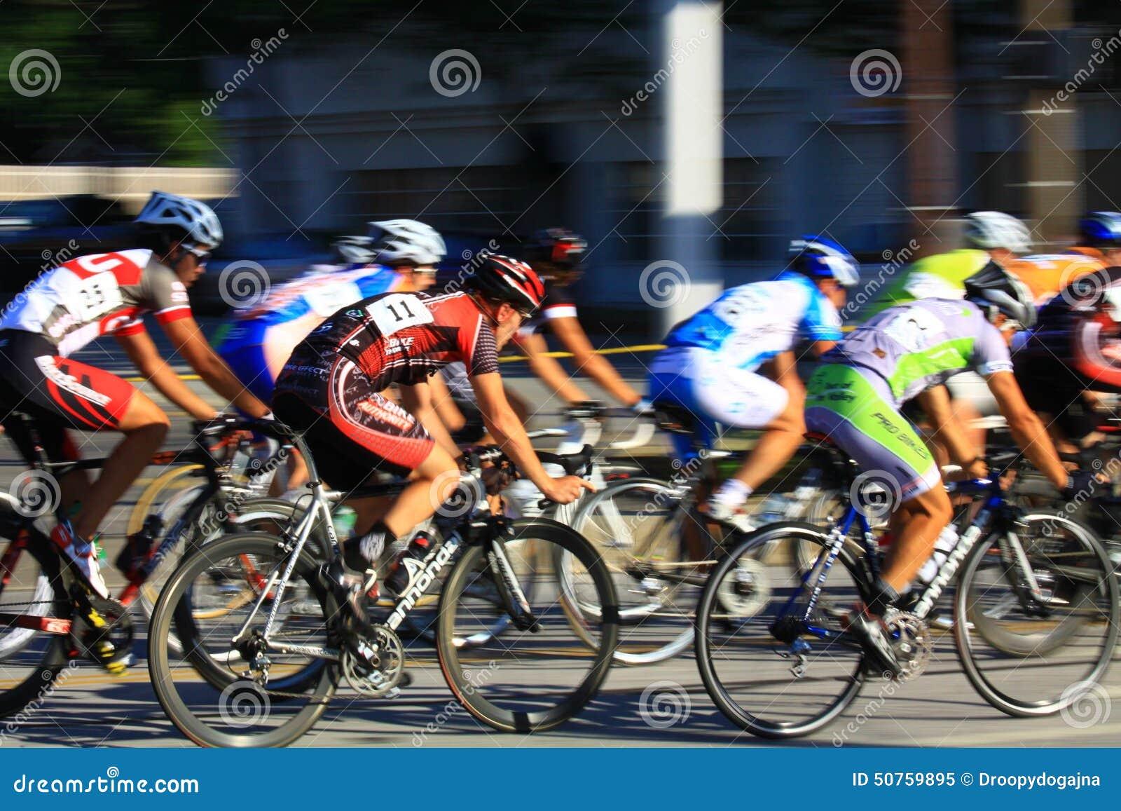 Speed race on bikes