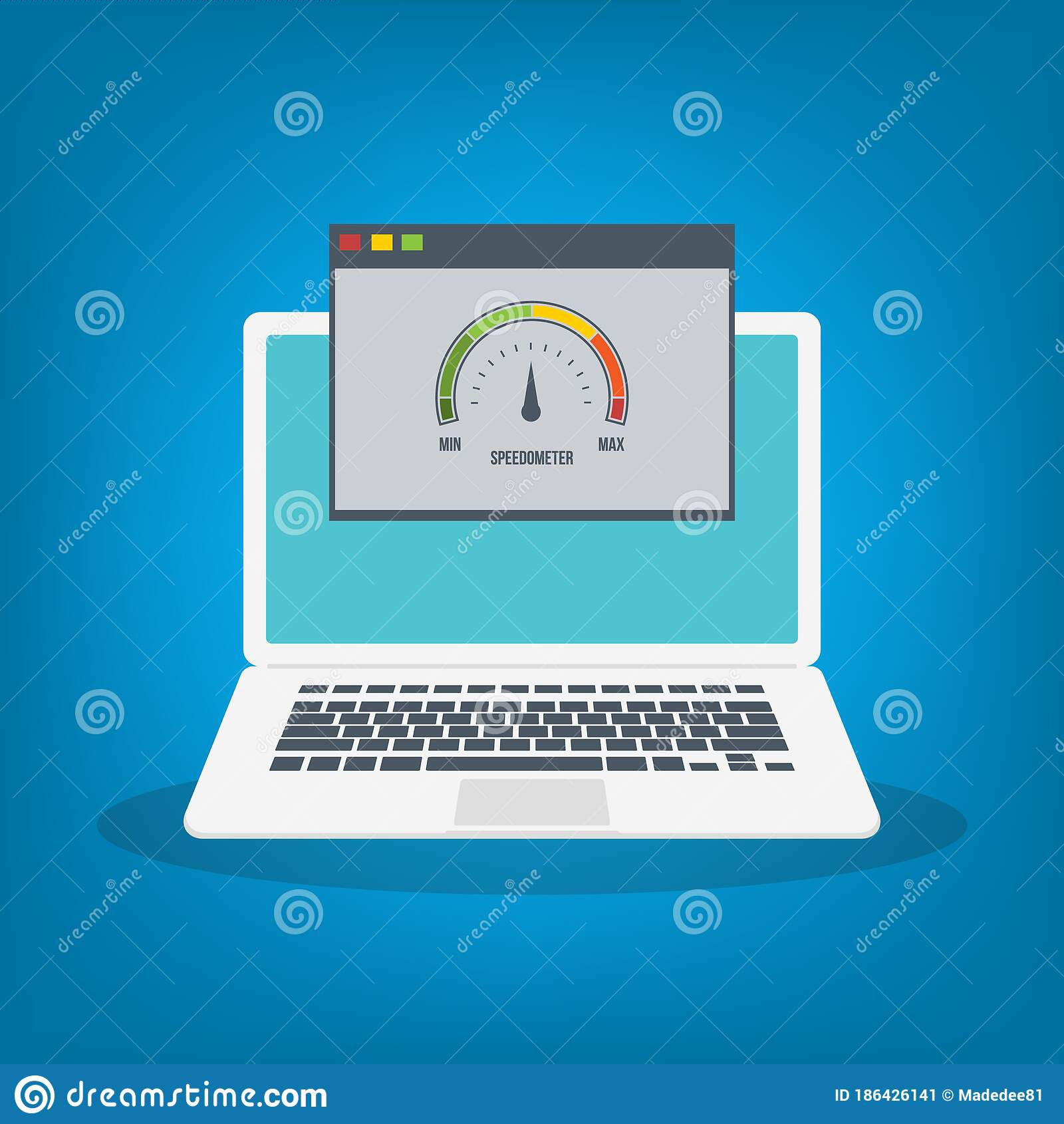 Speed Test On Laptop Speedometer Internet Speed Website Speed Loading Time Eps10 Vector Illustration All Elements Are In Sepa Stock Vector Illustration Of Power Business 186426141