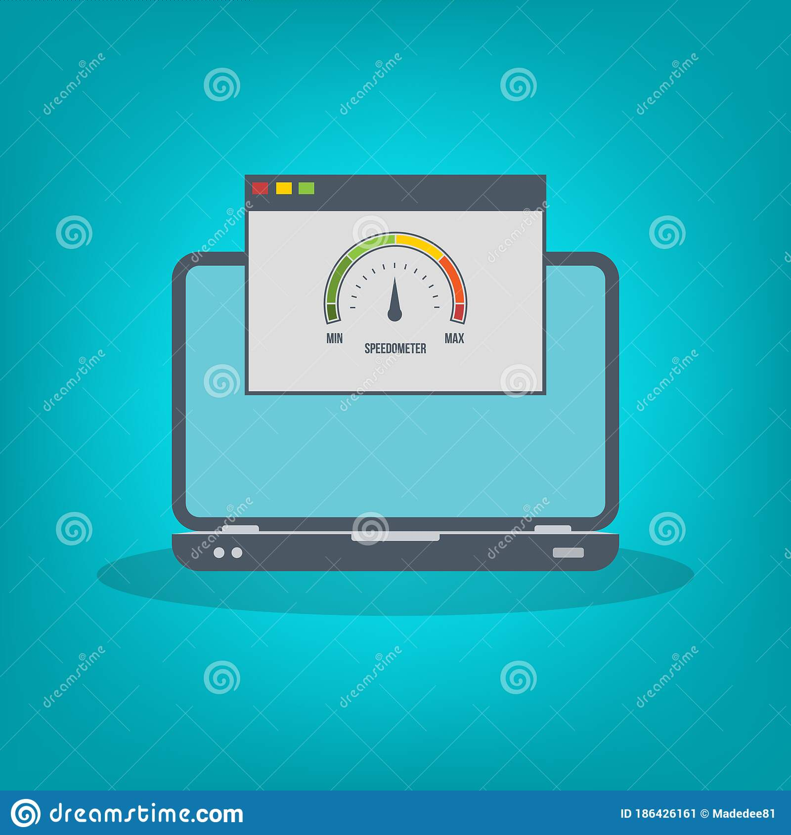 Speed Test On Laptop Speedometer Internet Speed Website Speed Loading Time Eps10 Vector Illustration All Elements Are In Sepa Stock Vector Illustration Of Illustration White 186426161