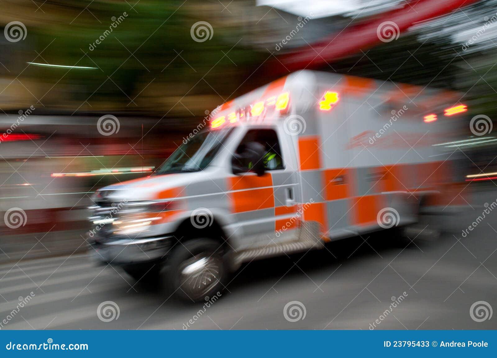 Speeding Ambulance Stock Photos Image 23795433