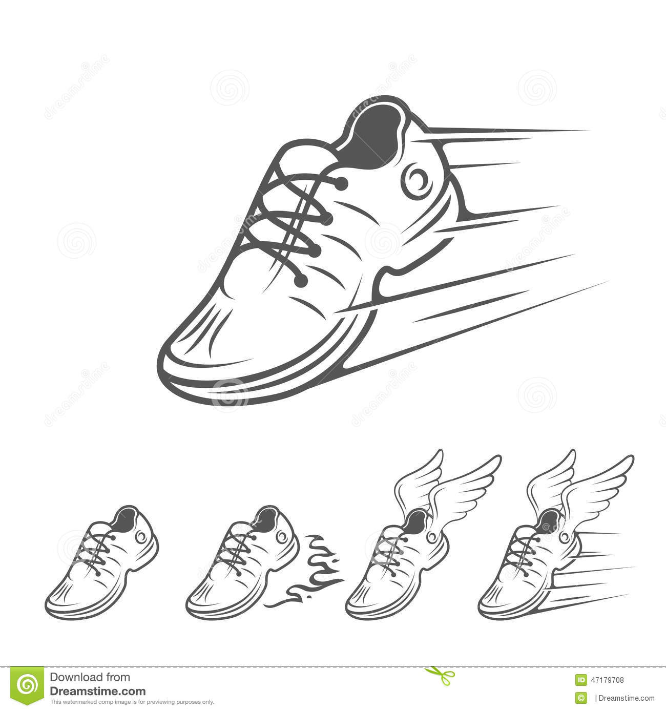Sports Shoes Drawing