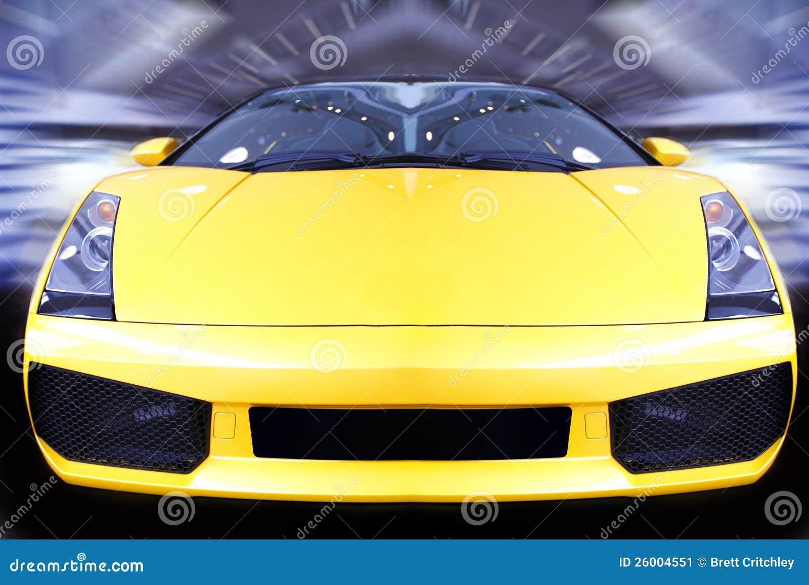 Speeding sports car
