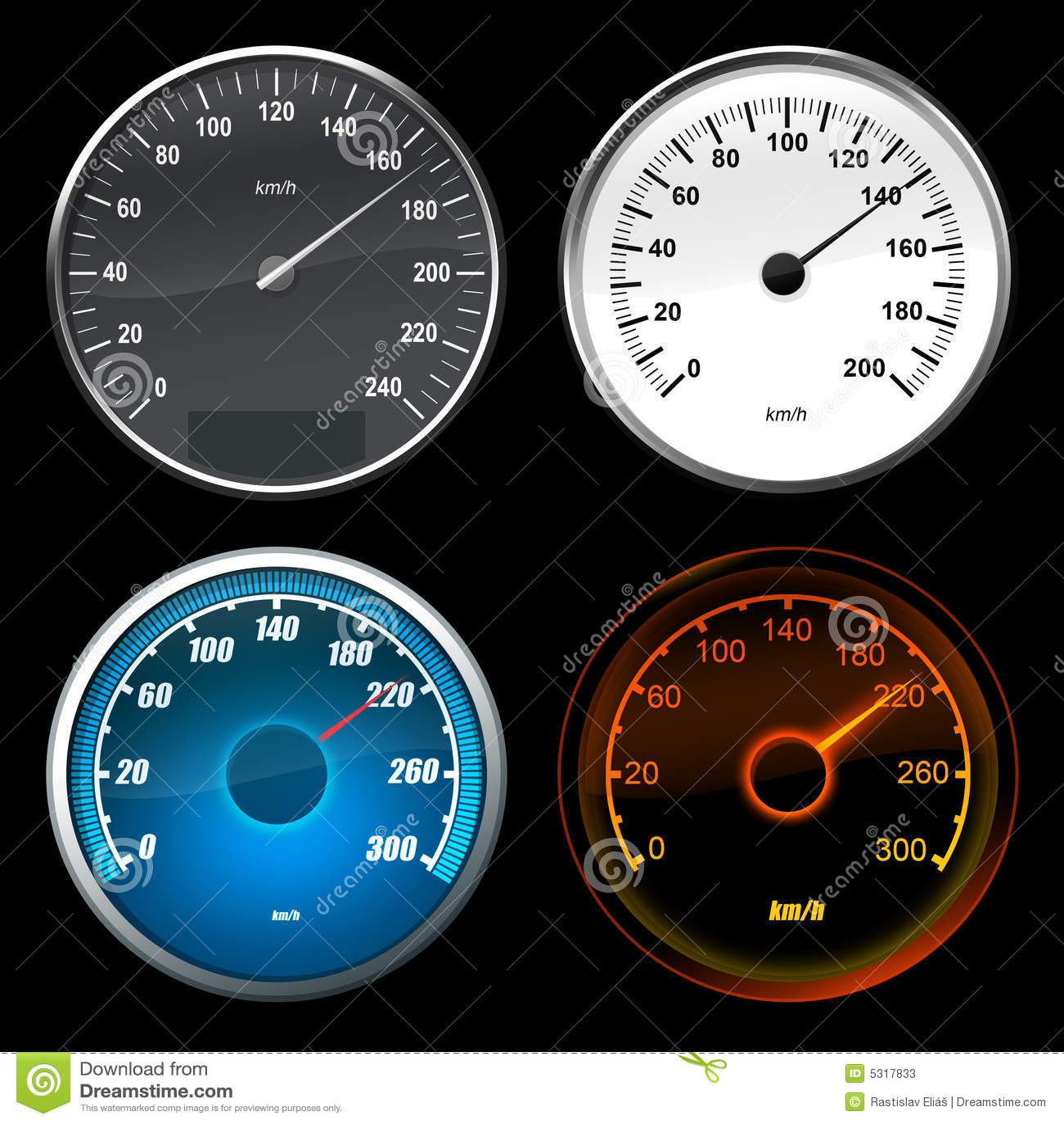 Speedometer car stock illustration. Illustration of ...