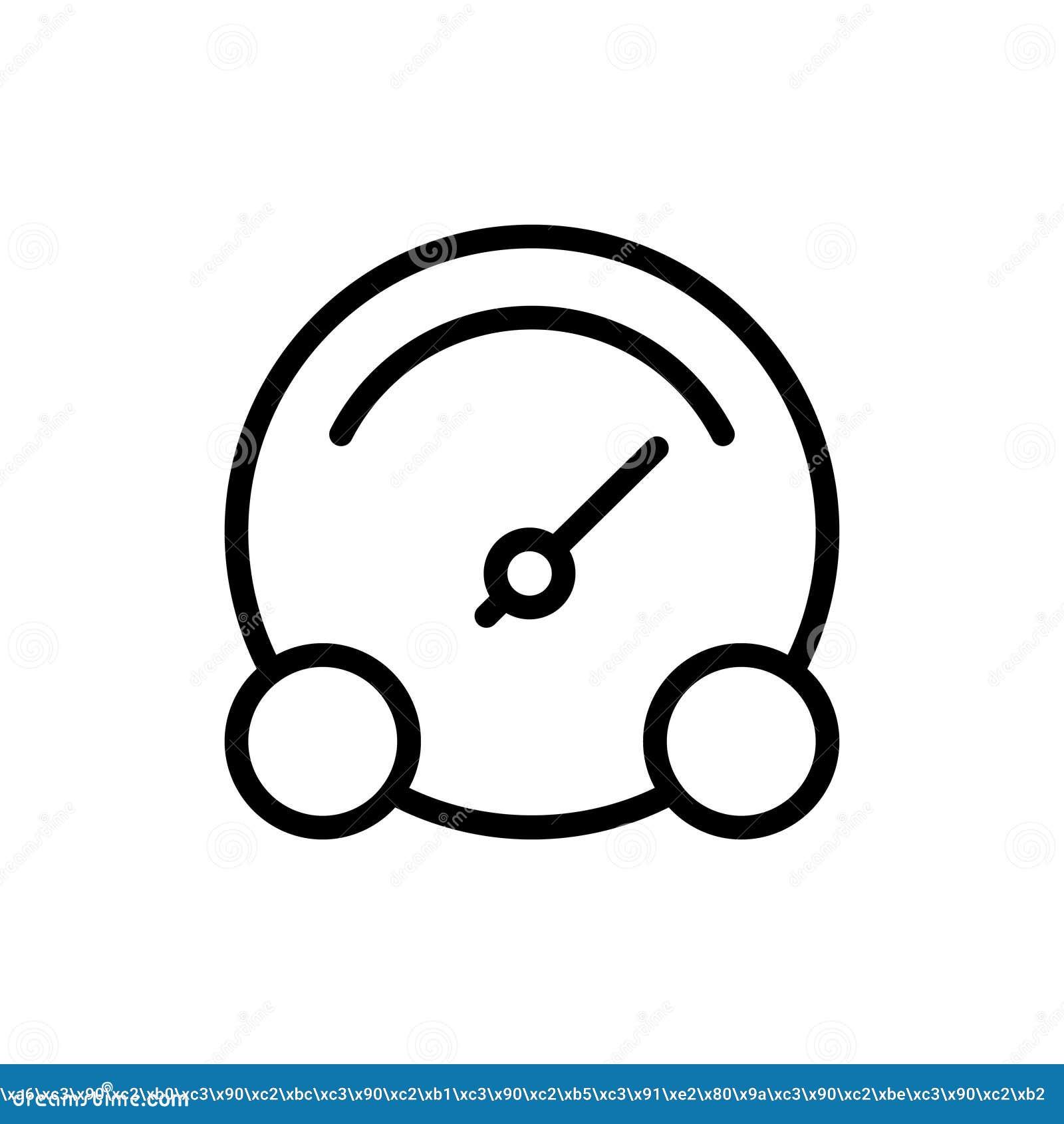 Speedometer Line Icon Stock Vector Illustration Of Control 102672857