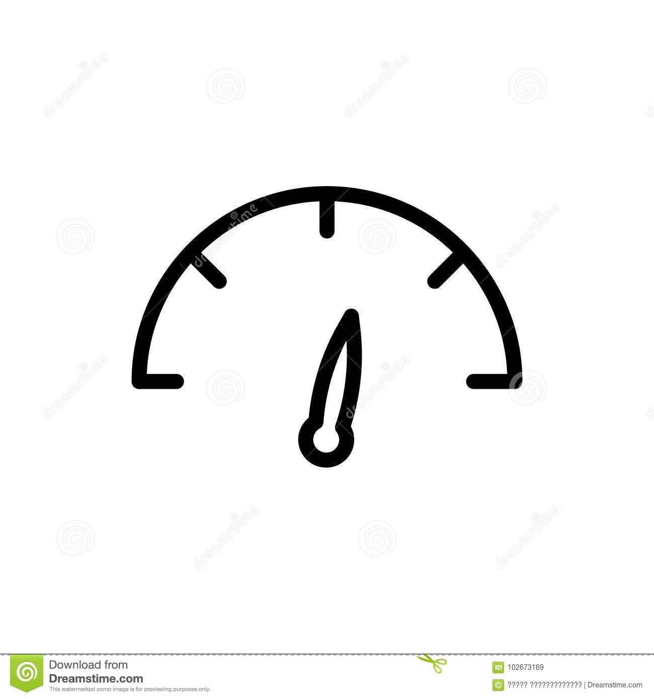 speedometer line icon stock vector  illustration of accelerate