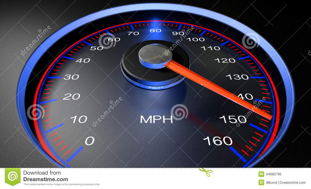 Speedometer MPH Fast stock image. Image of numbers, mile ...