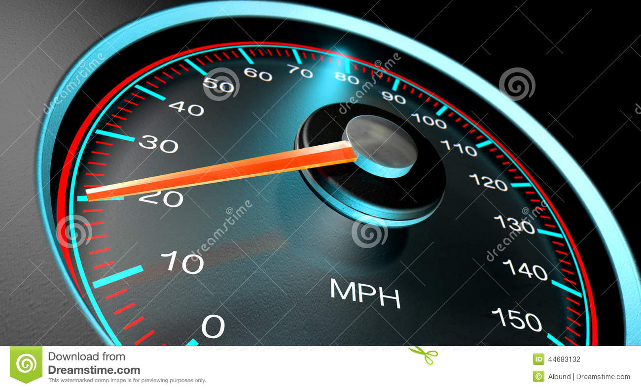 Low Gas Prices >> Speedometer MPH Slow stock illustration. Image of design ...