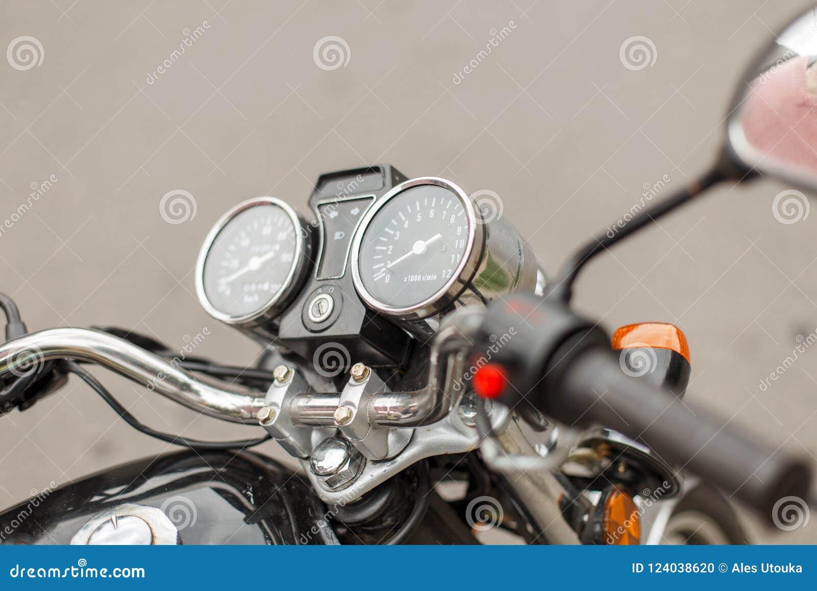 Vintage motorcycle speedometers