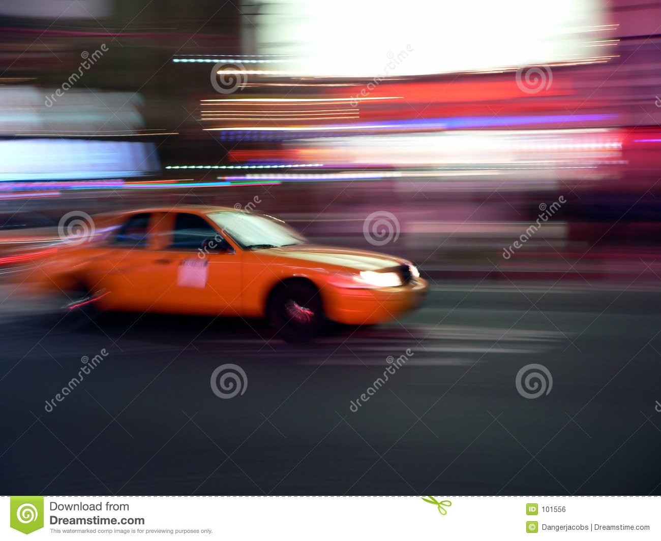 Speeds streets taxi