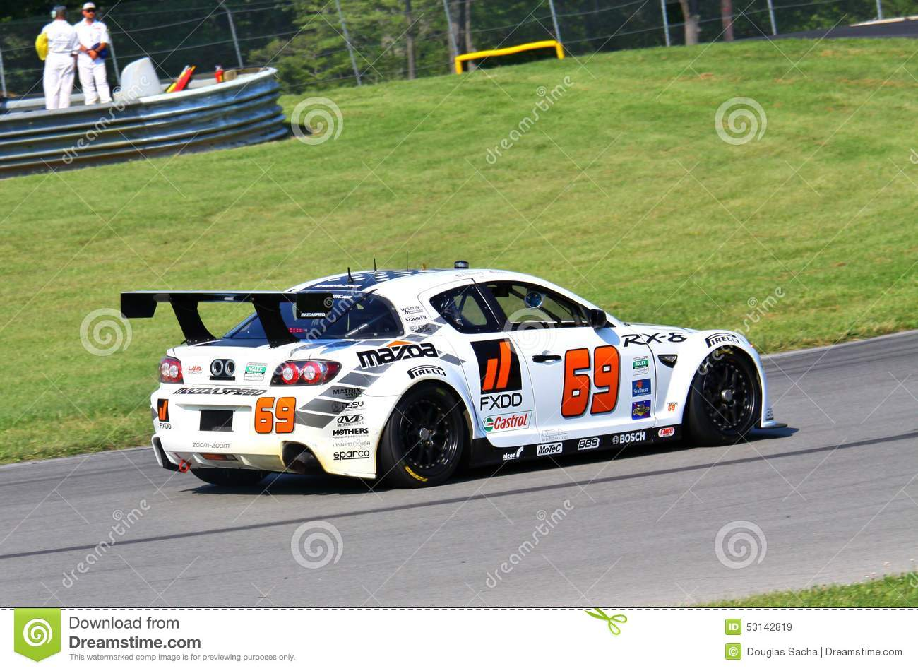 Speedsource mazda rx 8 racing editorial stock image for American traveler motor club
