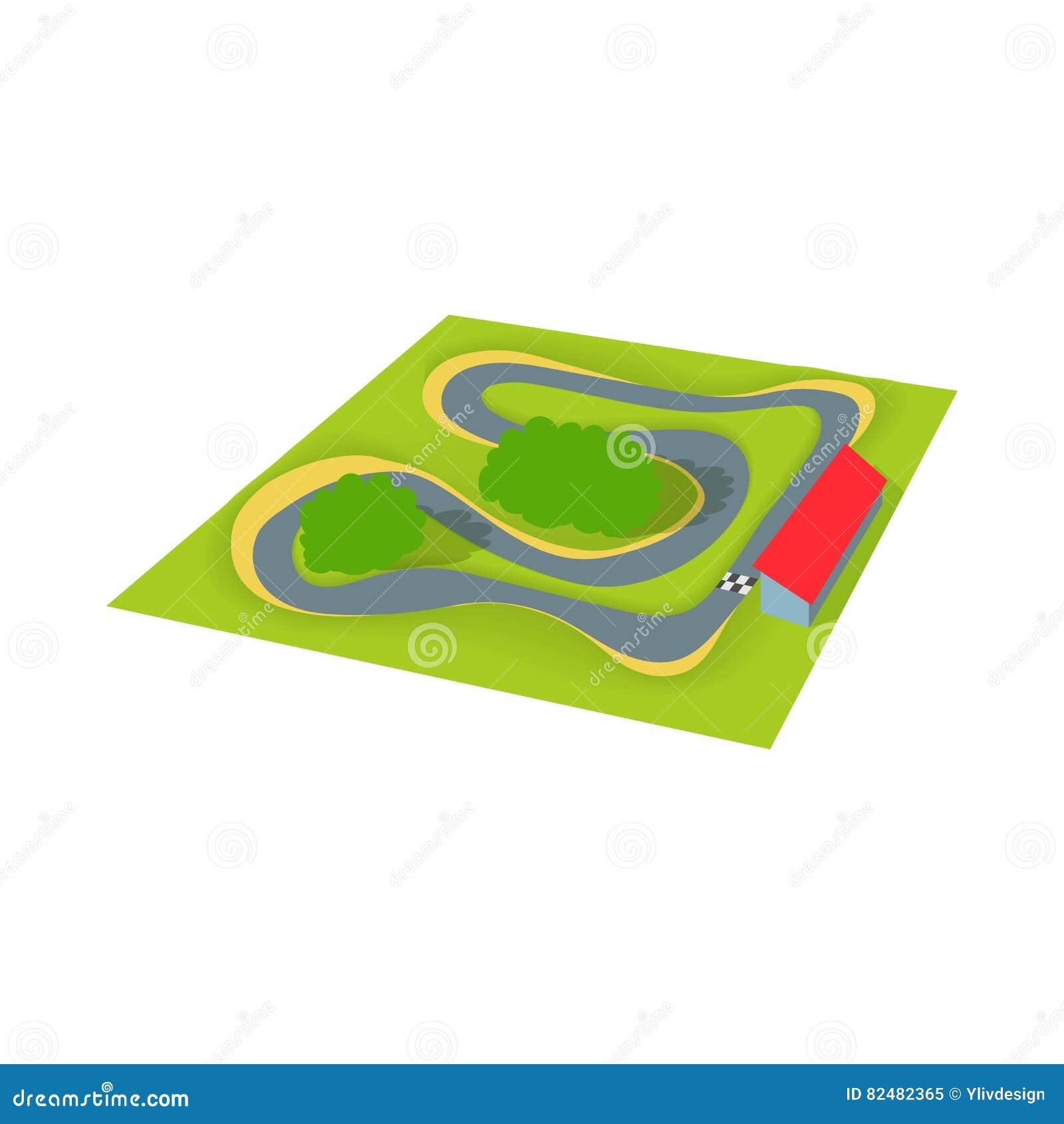 Speedwaysymbol, tecknad filmstil