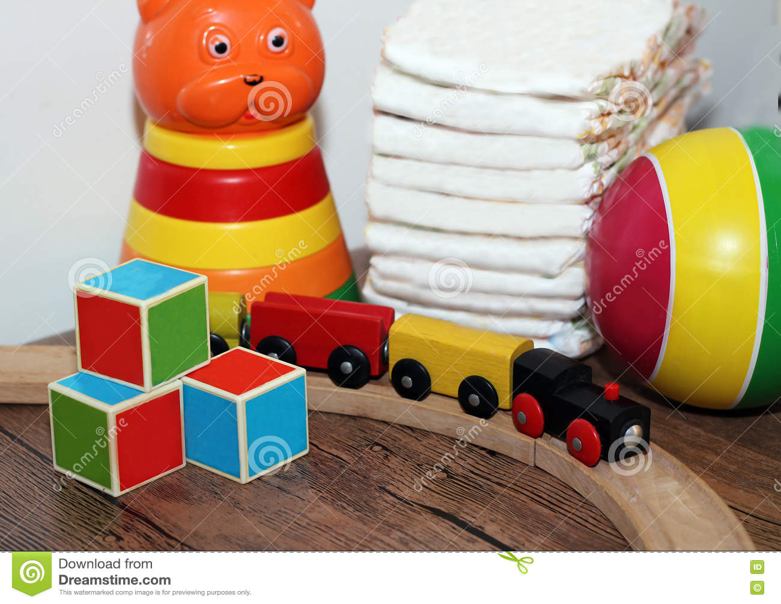 Speelgoedinzameling, houten trein