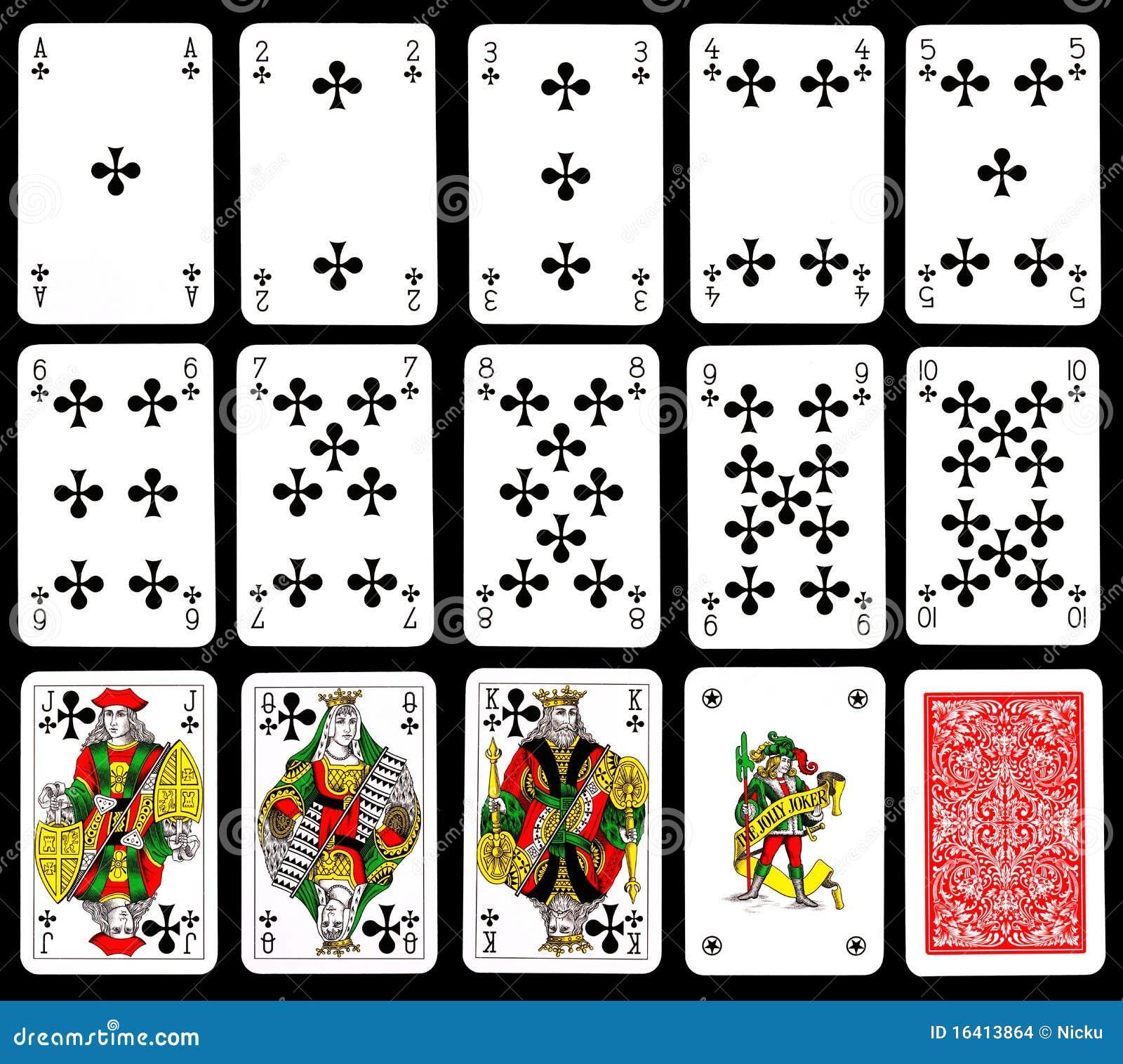 Speelkaarten Clubs Stock Afbeeldingen Afbeelding 16413864