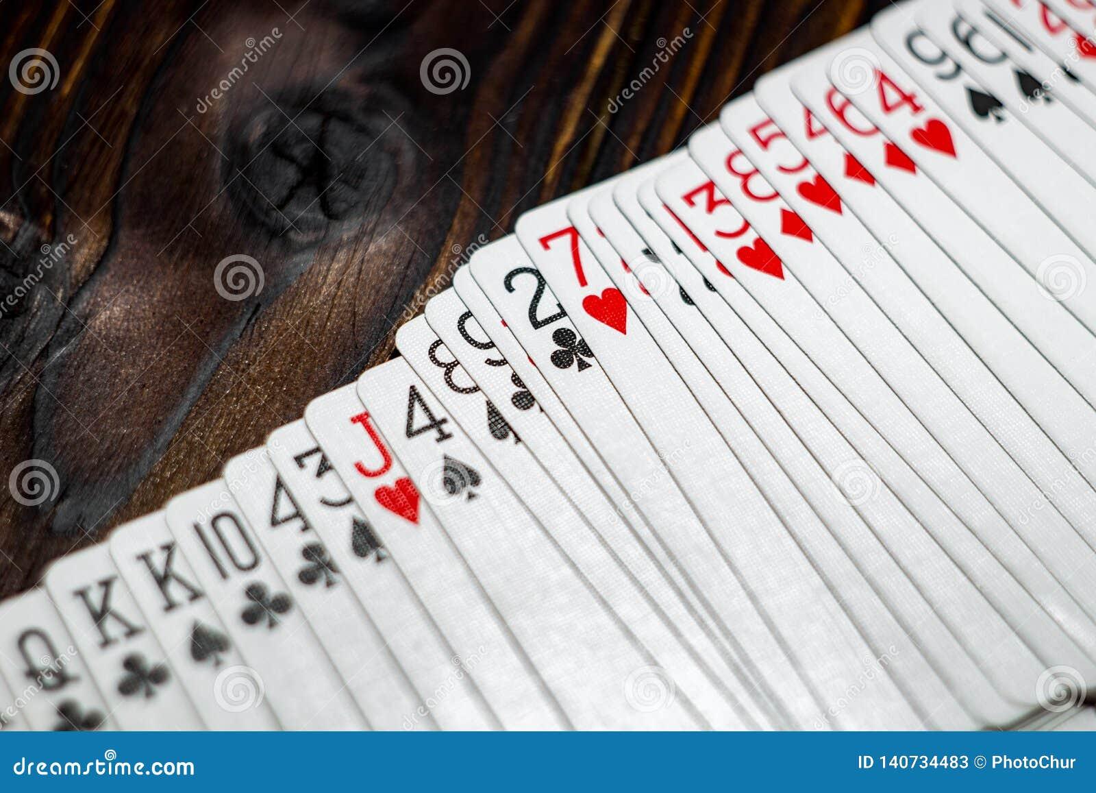 Speelkaarten op de lijst