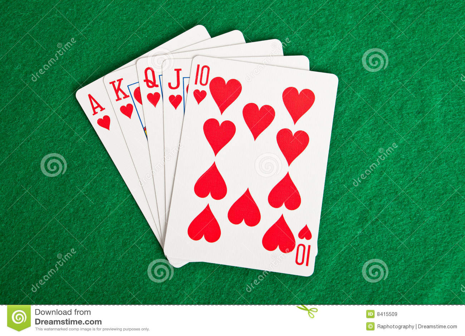 Speelkaarten op een groene doek stock afbeelding afbeelding 8415509 - Hang een doek ...
