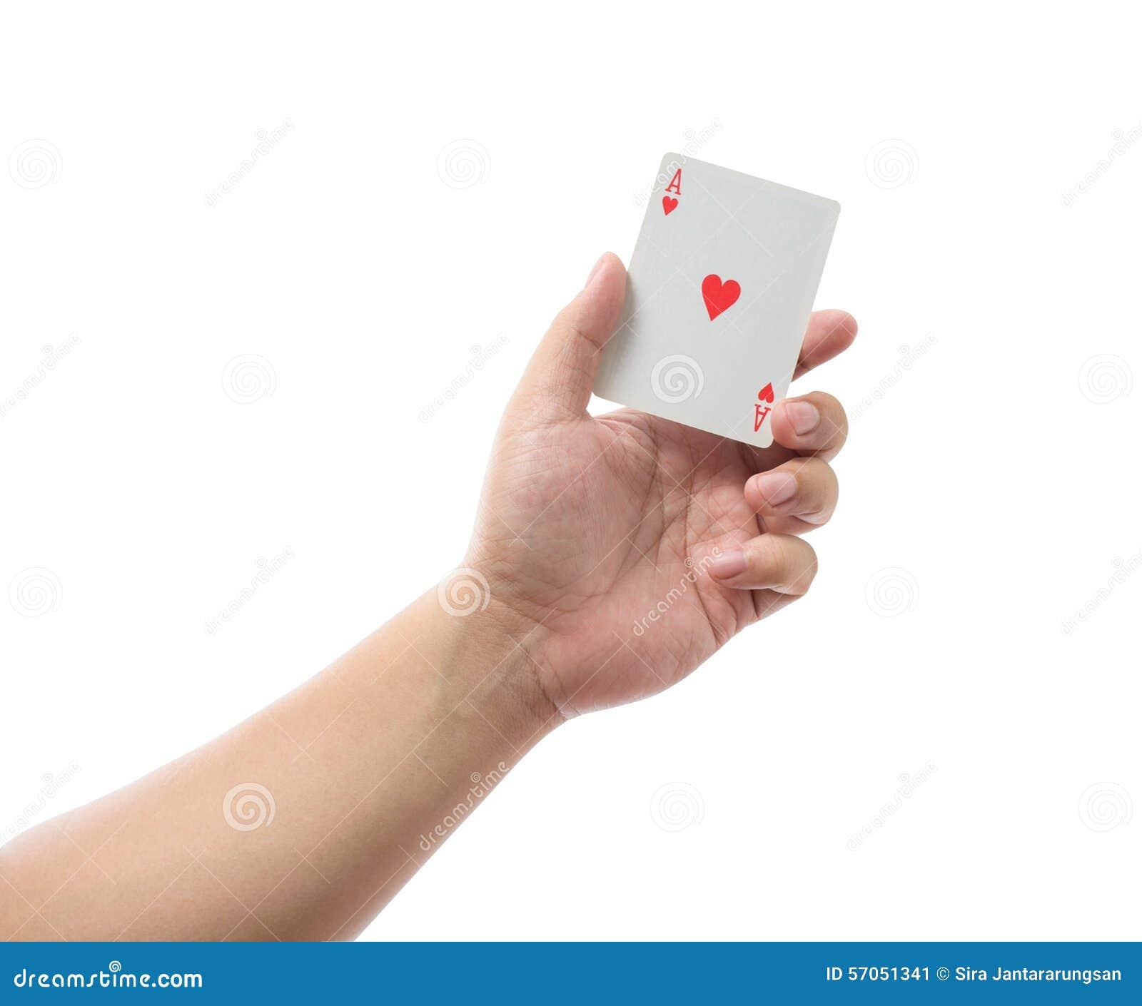 Speelkaarten op witte achtergrond ter beschikking worden geïsoleerd die
