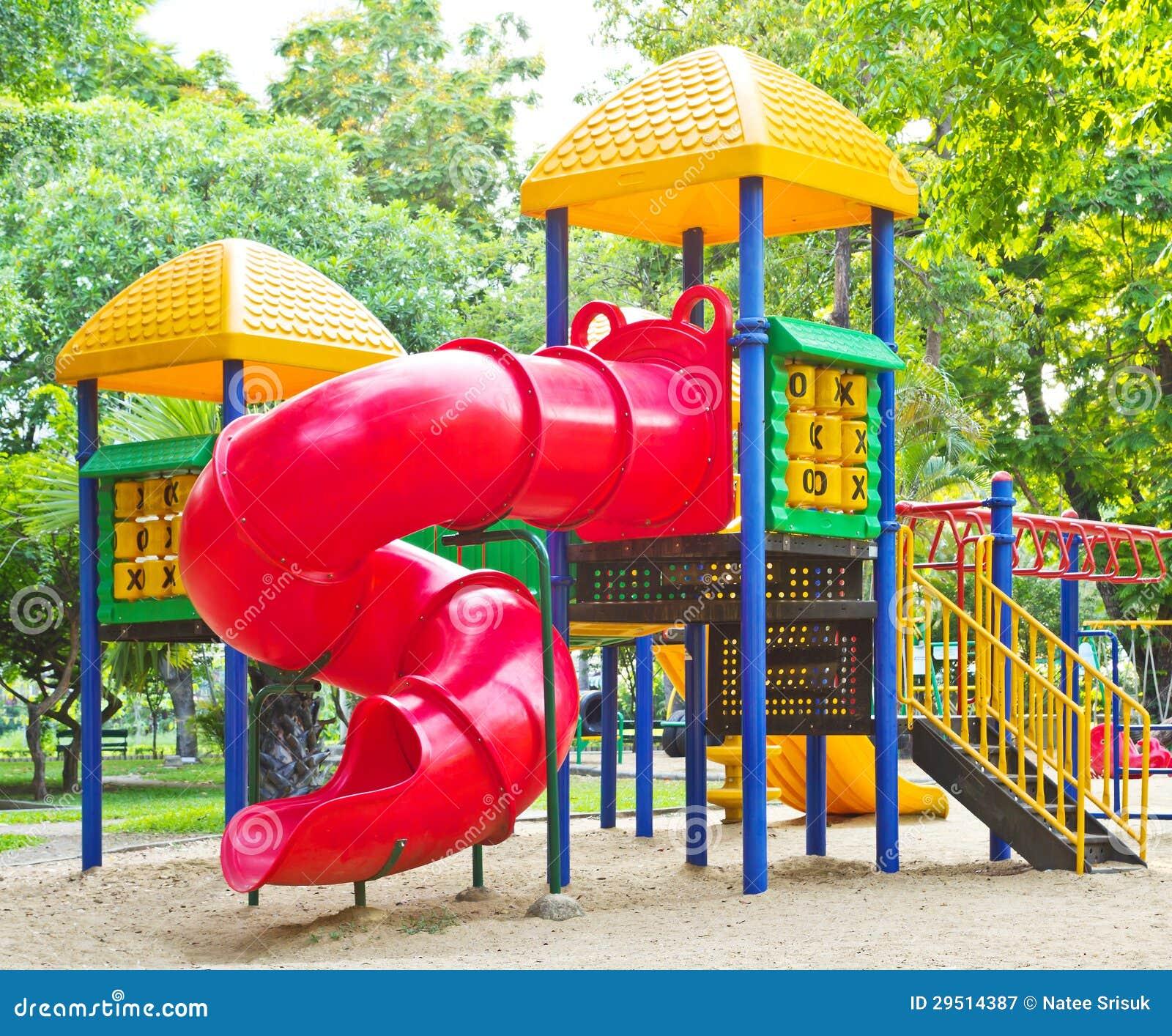 Speelplaats in het park