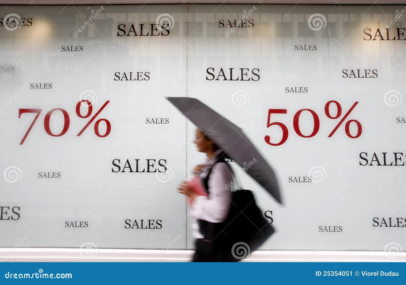 Speichern Sie bekanntmachende Verkäufe