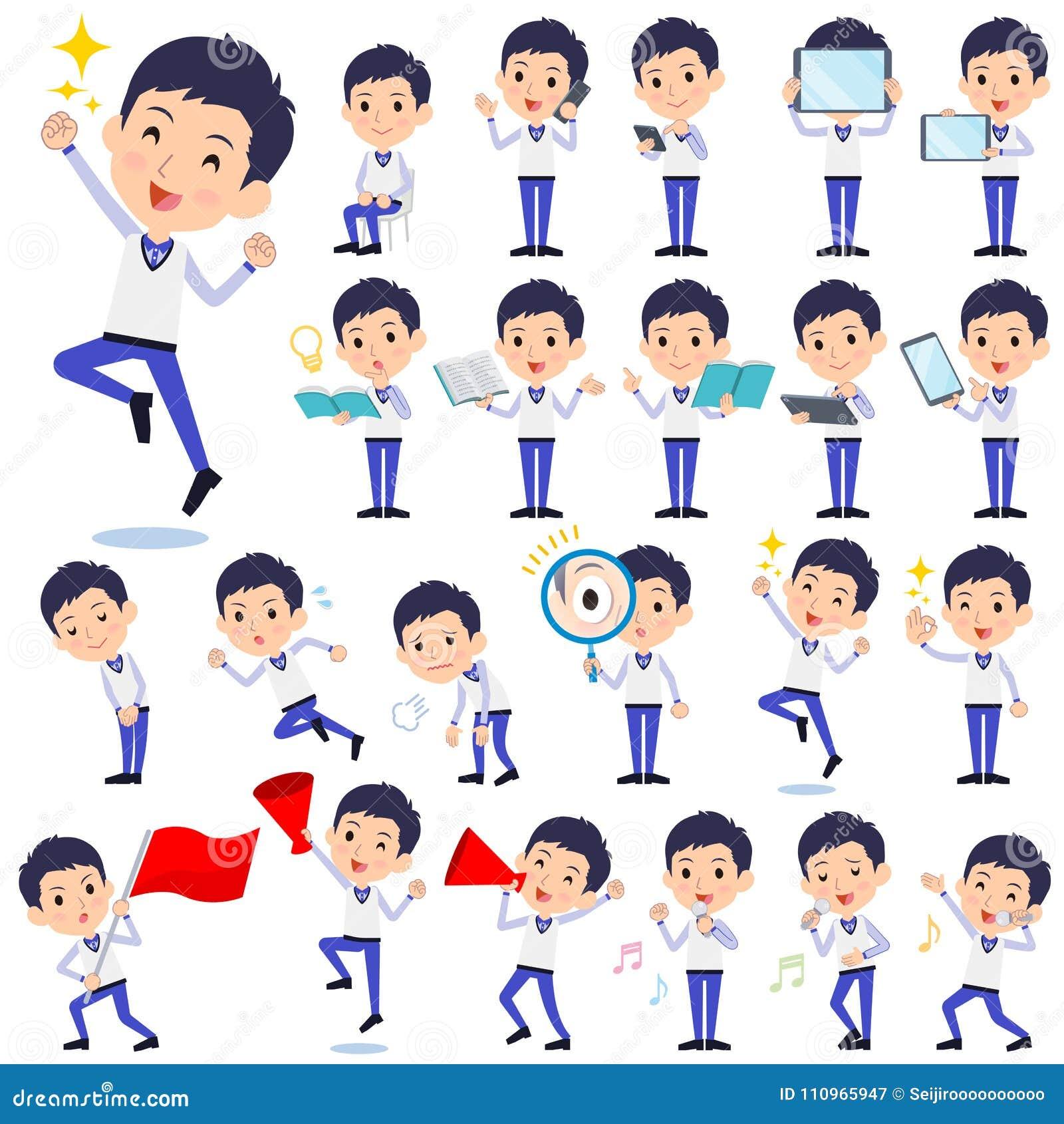 Speichern Sie blaue Uniform men_2 des Personals