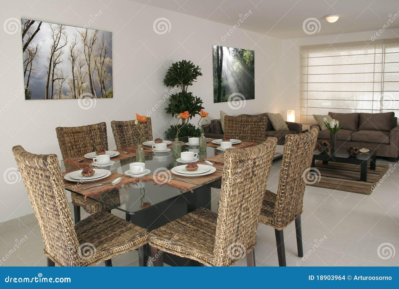 Speisen und Wohnzimmer