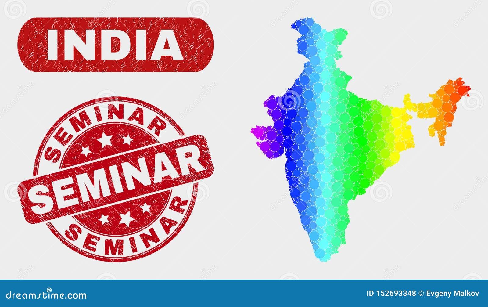 Spektrum-Mosaik-Indien-Karte und Schmutz-Seminar-Dichtung