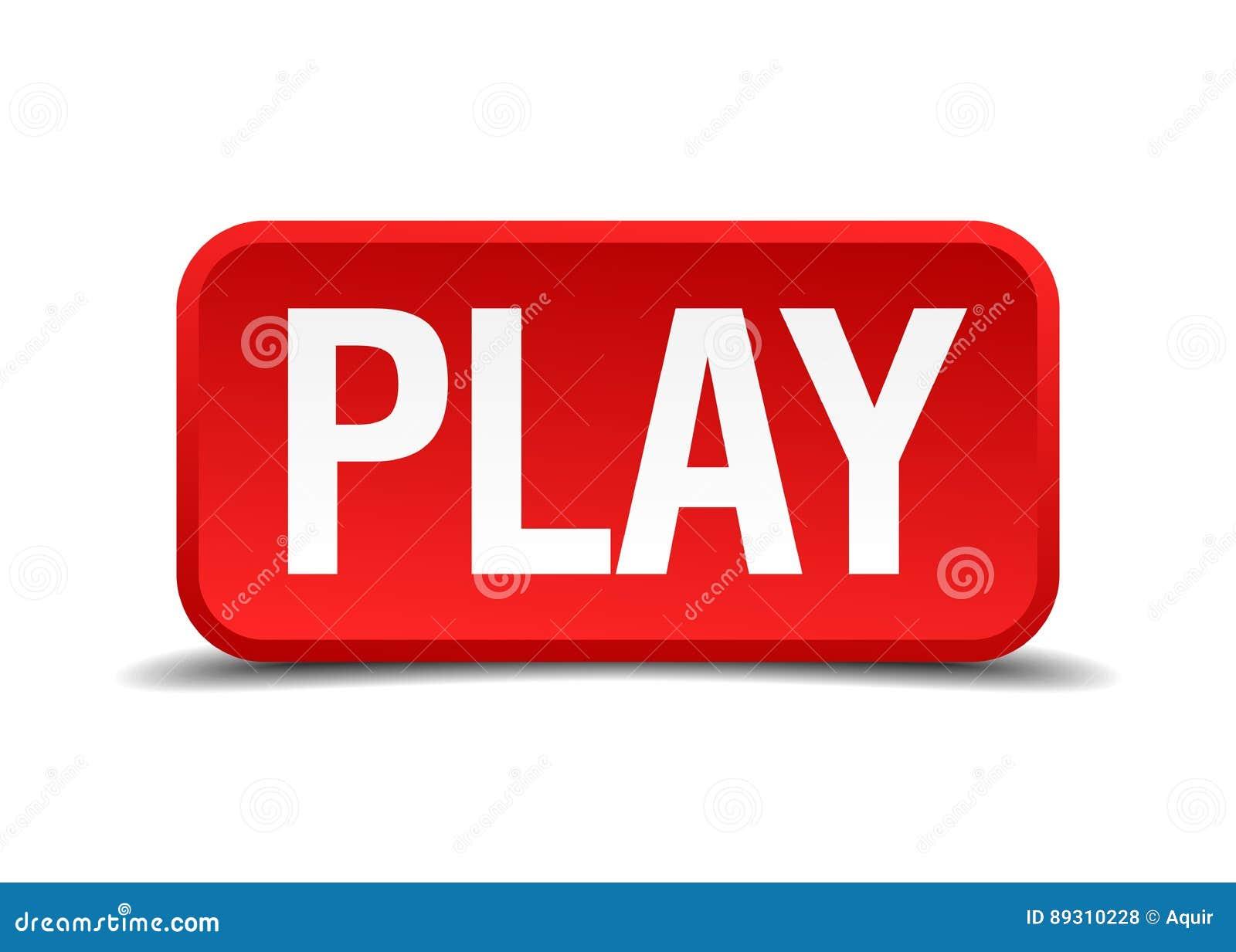 Spel rode 3d vierkante knoop