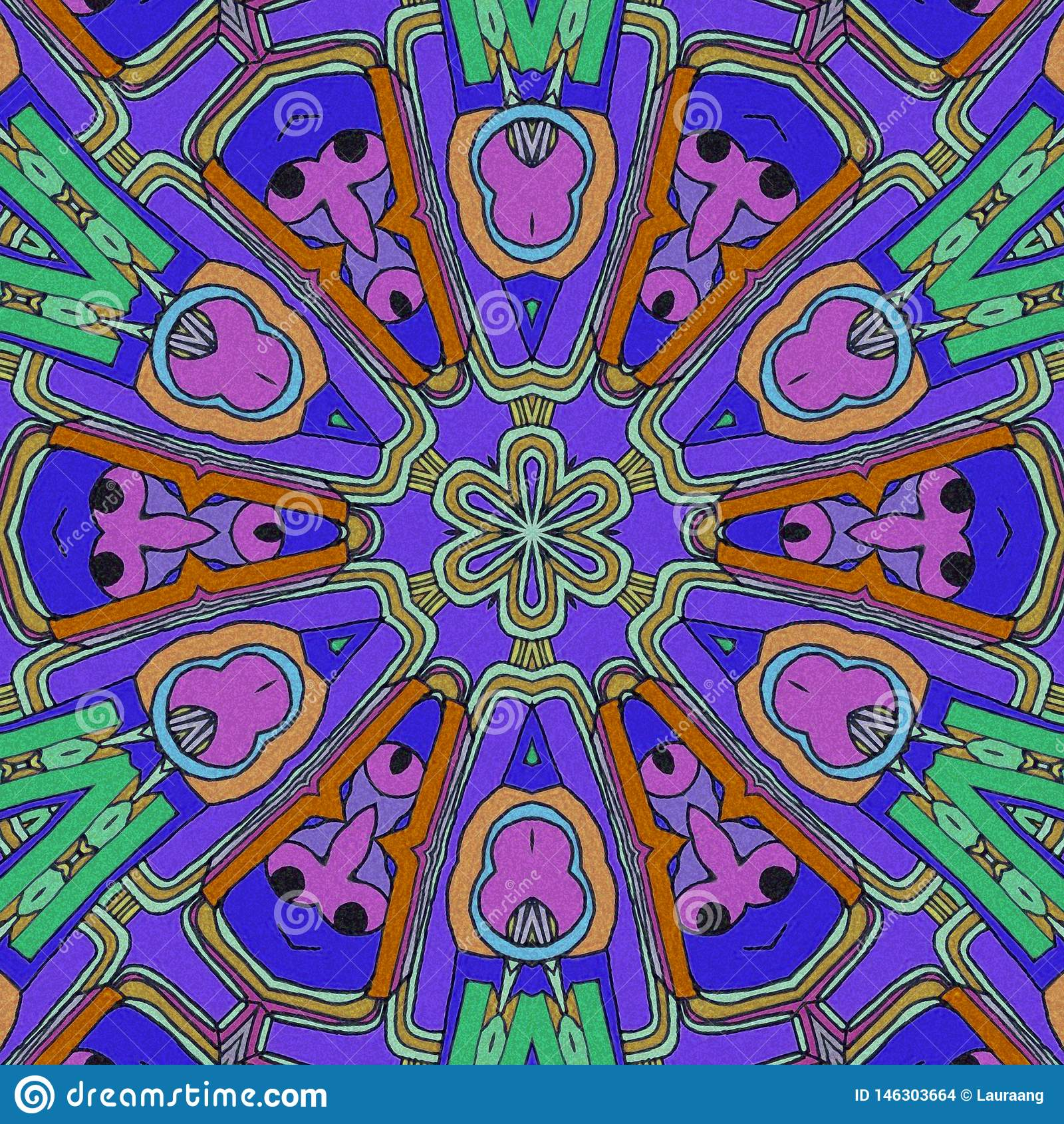 Spel van Kleuren De samenvatting trekt met gezichten en bloemen