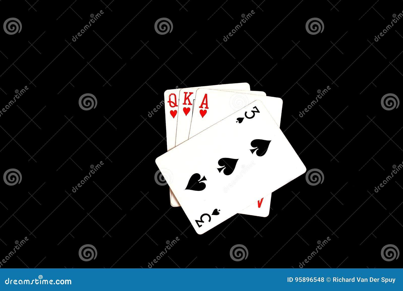 Spela kort - ett spelat trumfkort