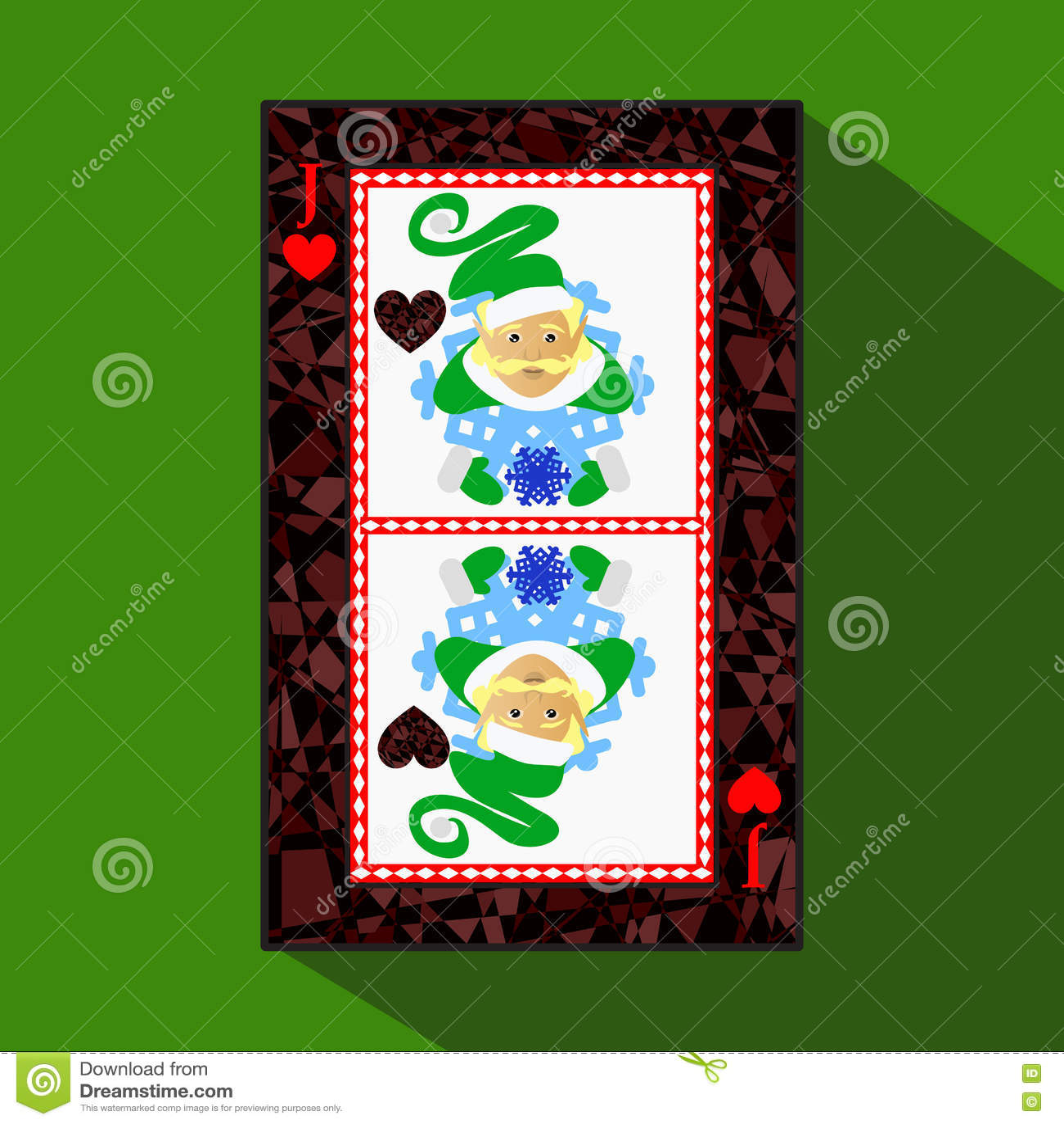 Spela kortet symbolsbilden är lätt ÄLVA FÖR NYTT ÅR FÖR HJÄRTASTÅLARJOKER JULÄMNE om mörk regiongräns a dåligt