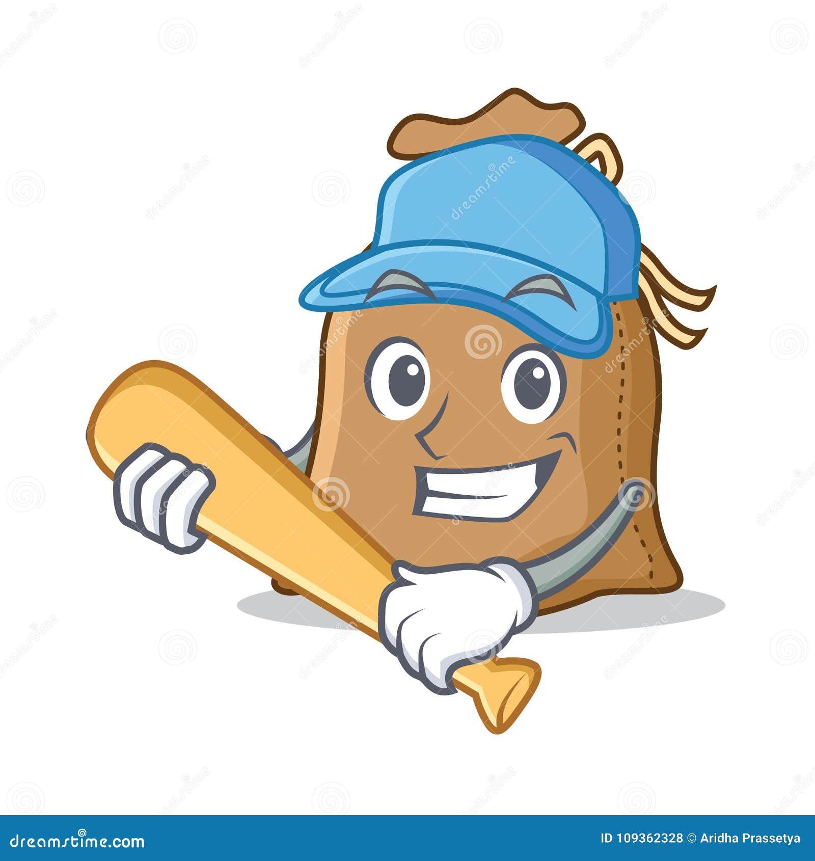 Spela stil för tecknad film för baseballsäcktecken