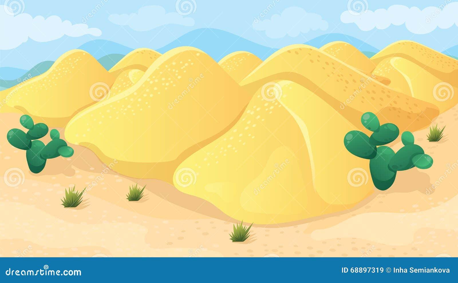 Spelachtergrond van Woestijn