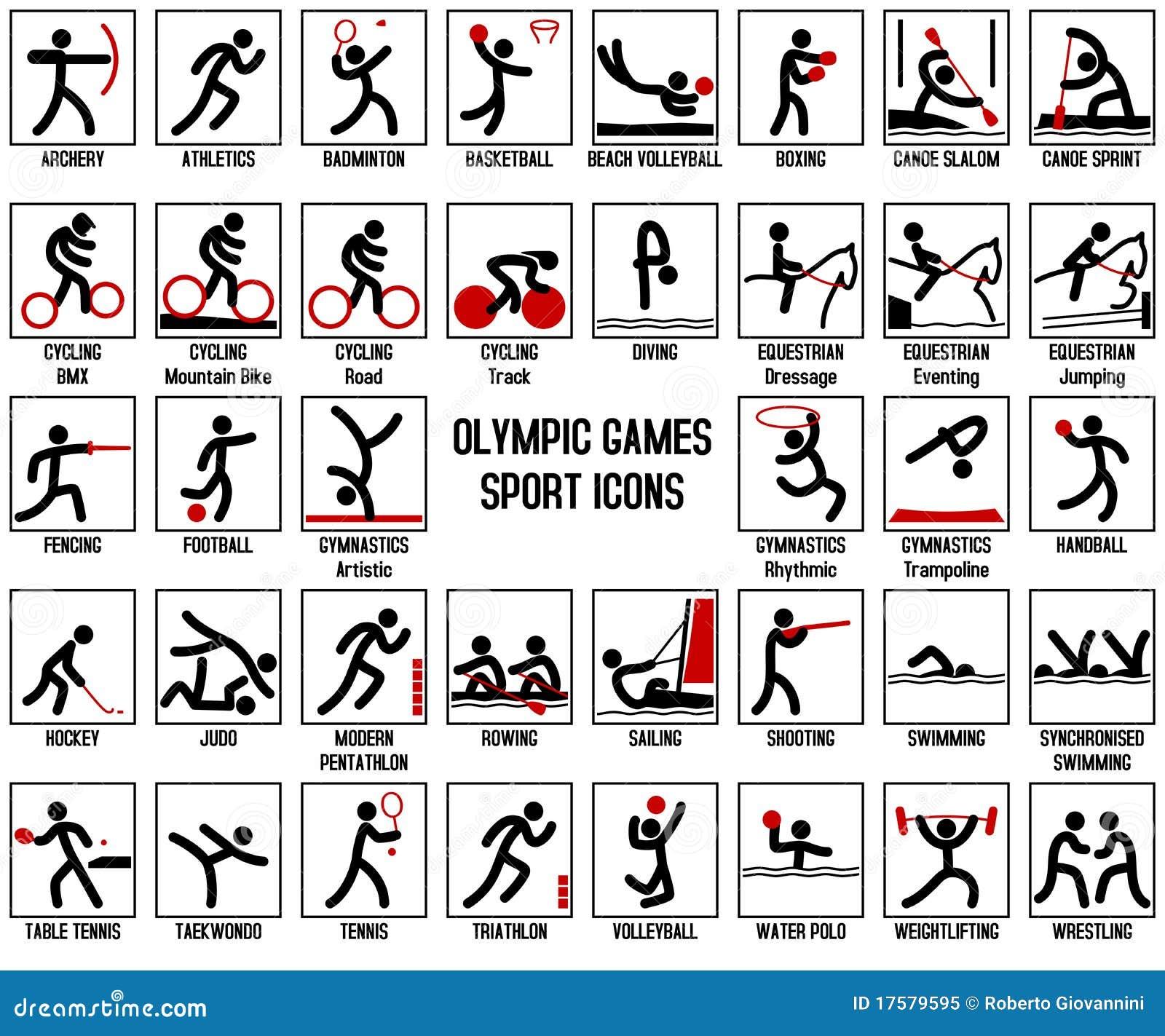 Spelar den olympic sporten för symboler