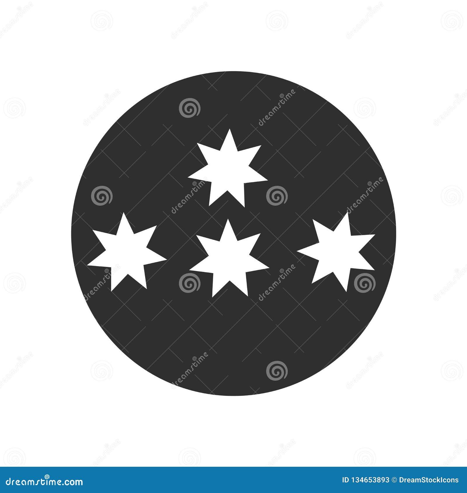 Spelen het het vectordieteken en symbool van het sterrenpictogram op witte achtergrond wordt geïsoleerd, embleemconcept mee