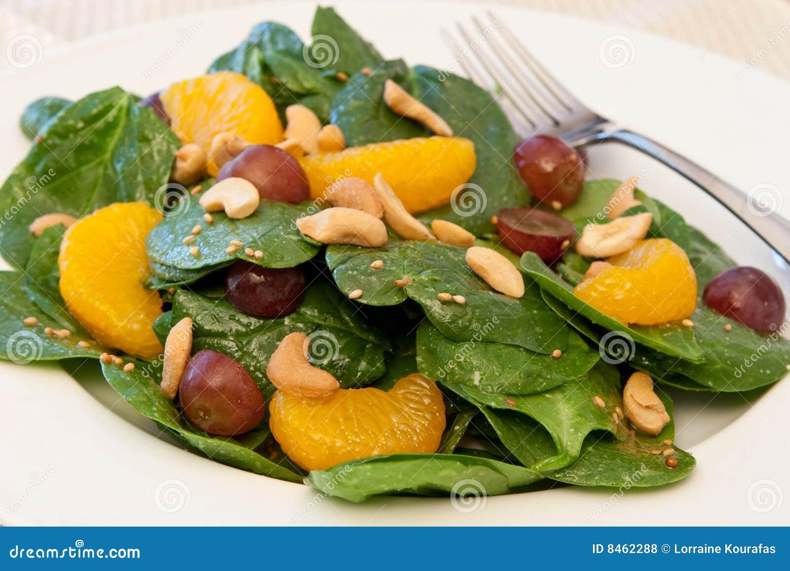 Spenat för sallad för mandarinorange