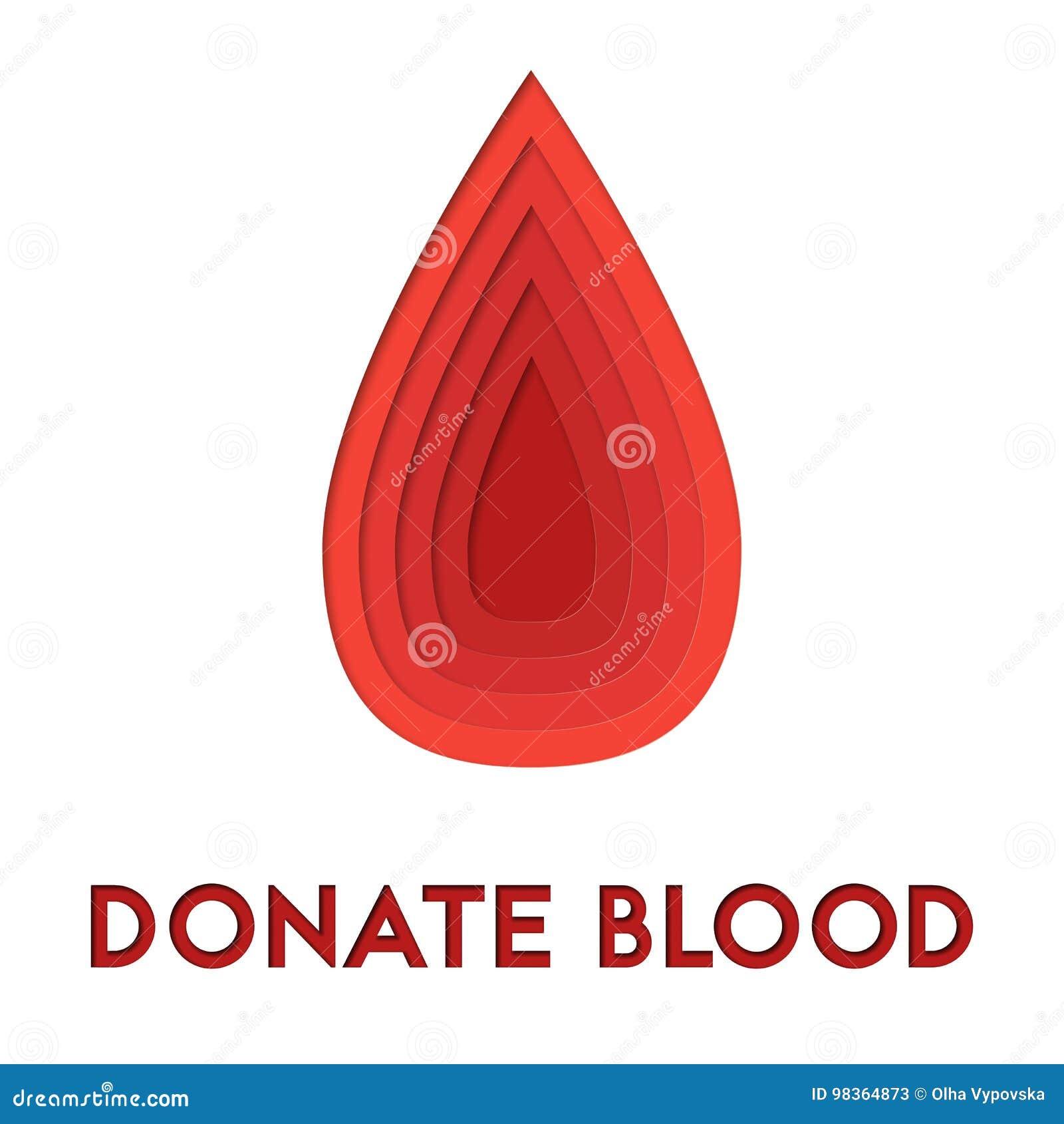 Spenden Sie Zusammenfassung Des Bluts 3d Papier Herausgeschnittenes ...
