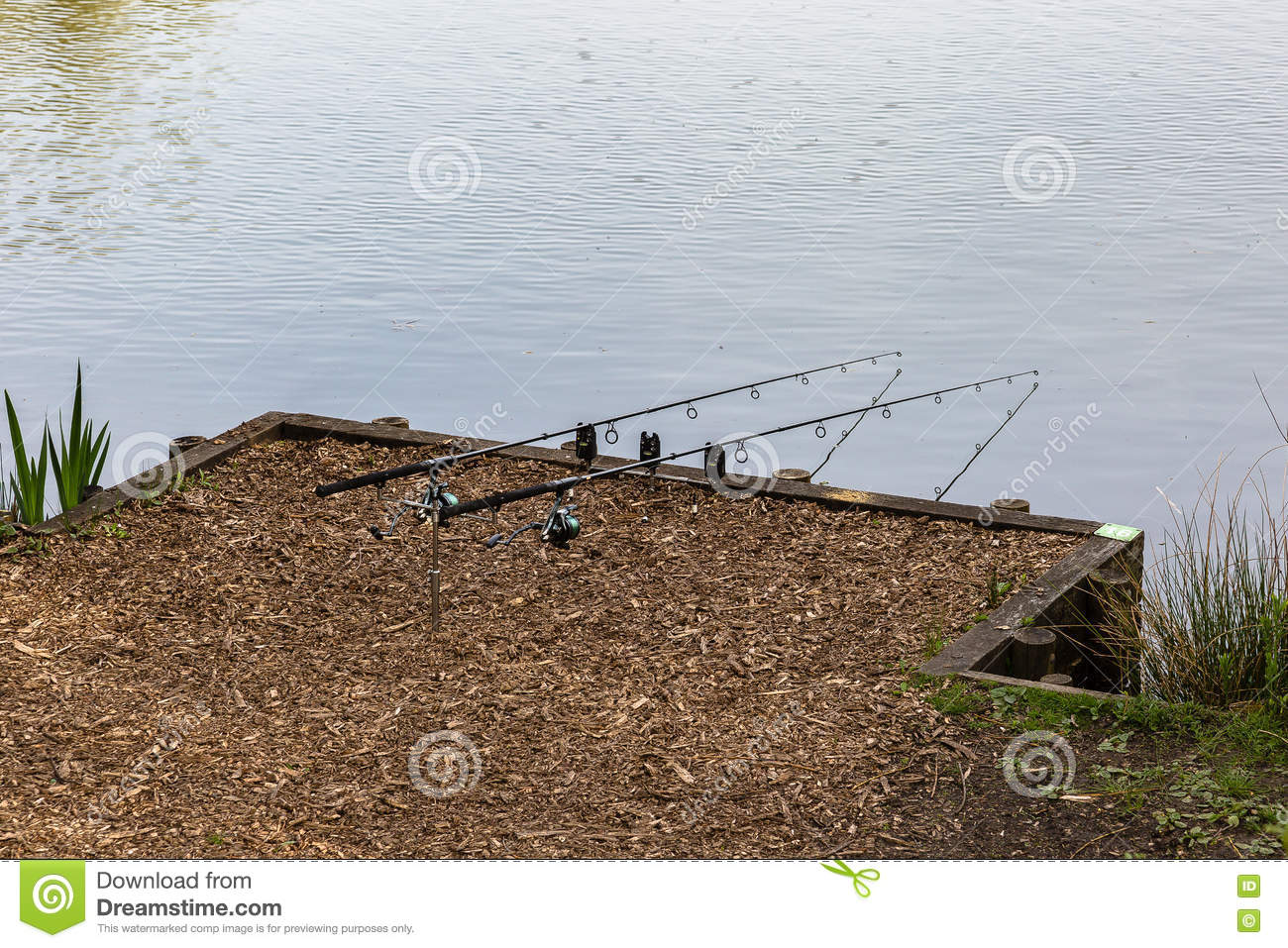 Spending time at lake fishing stock image cartoondealer for Fishing times free