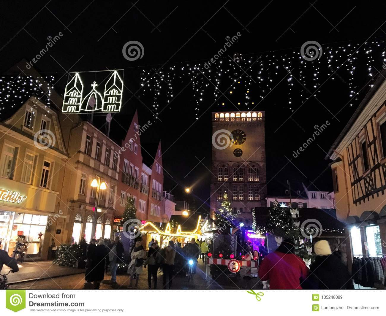 speyer germany 2017 december 1st christmas market at speyer cathedral by night - How Does Germany Celebrate Christmas
