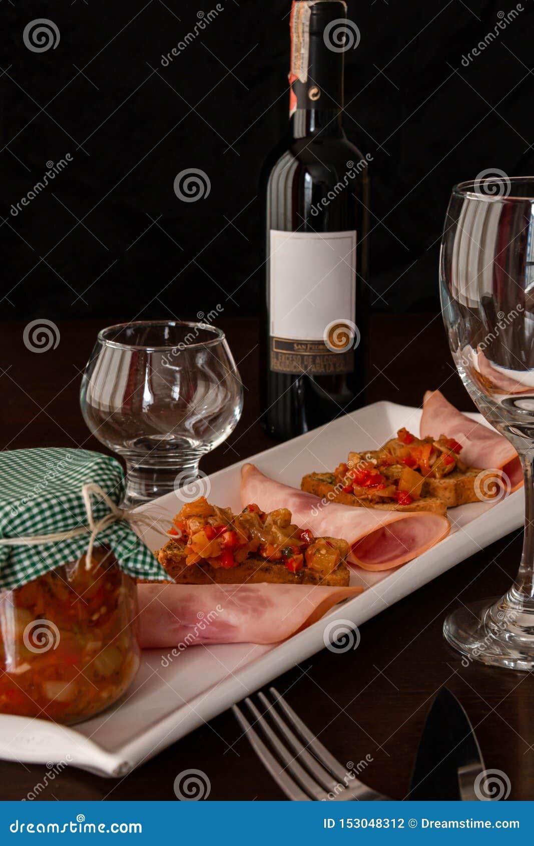 Spezielles und köstliches gesundes Wein-Abendessen