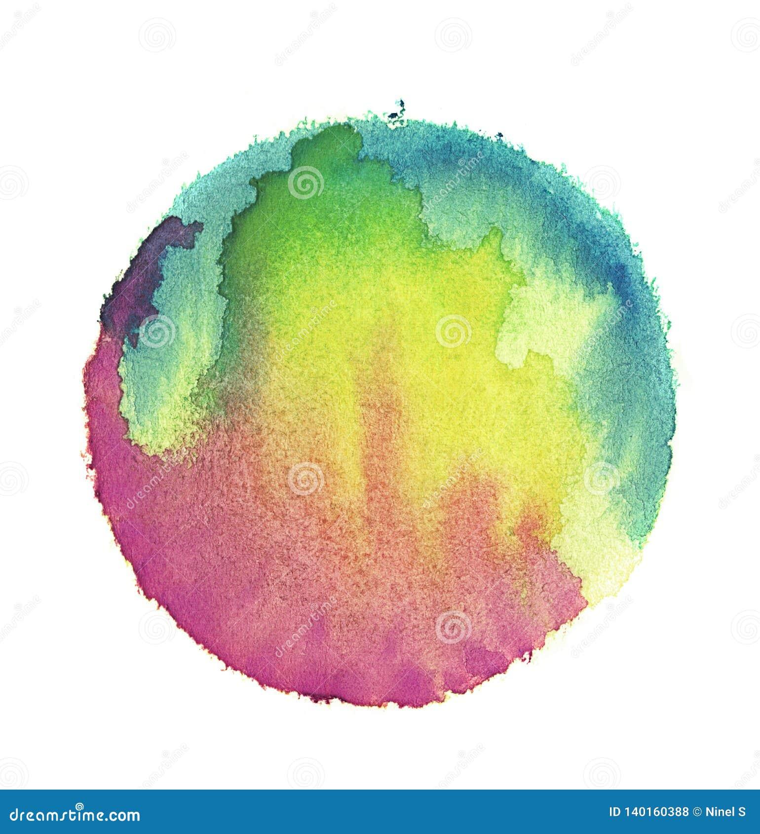 Sphère Colorée D'aquarelle Peinture Abstraite Peinture Bleue, Verte, Jaune  Et Magenta Texture Tachée Abstraite Multicolore De Bla Illustration Stock -  Illustration du création, retrait: 140160388