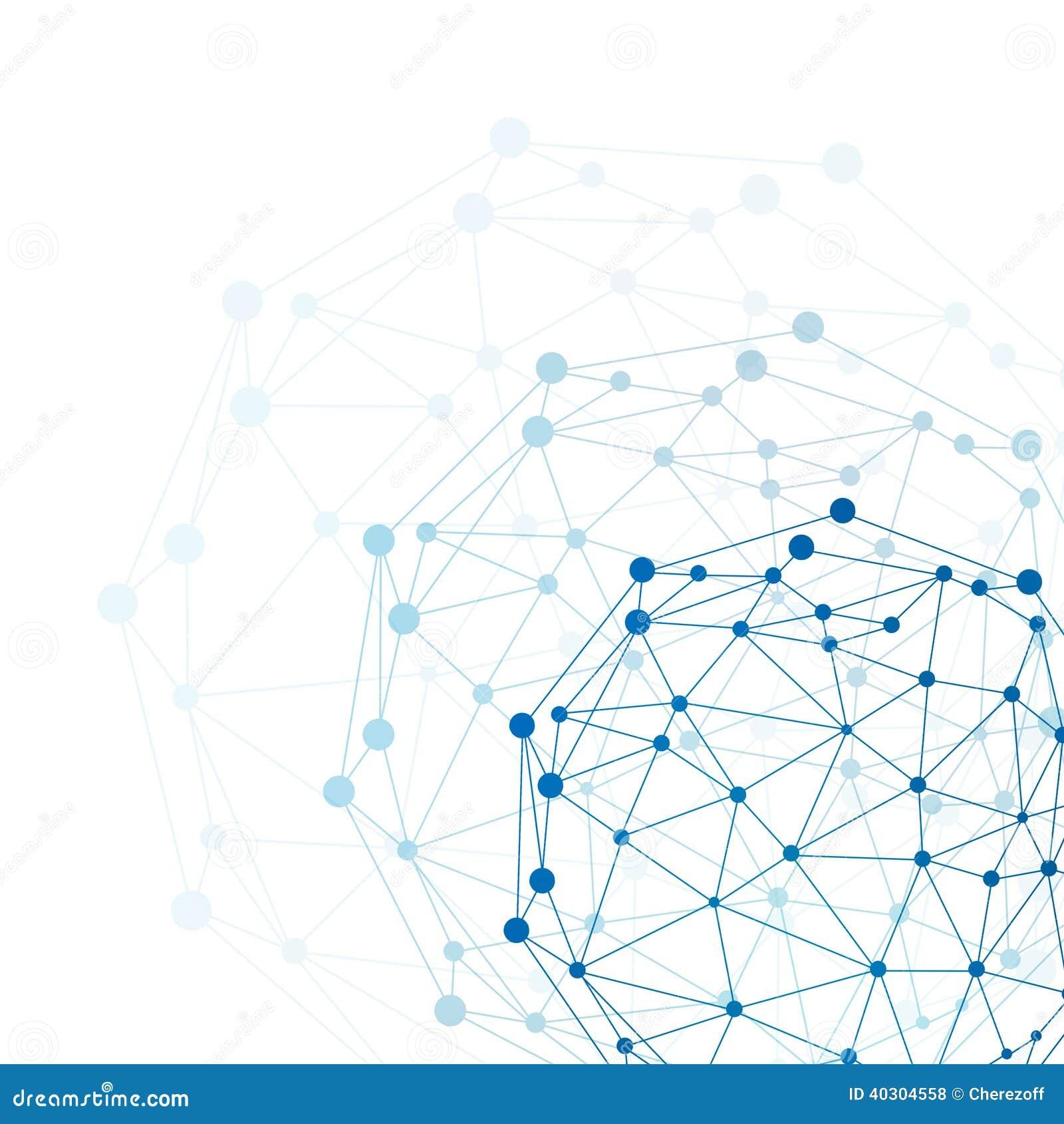 Sphère de cadre de fil. Concept de réseau