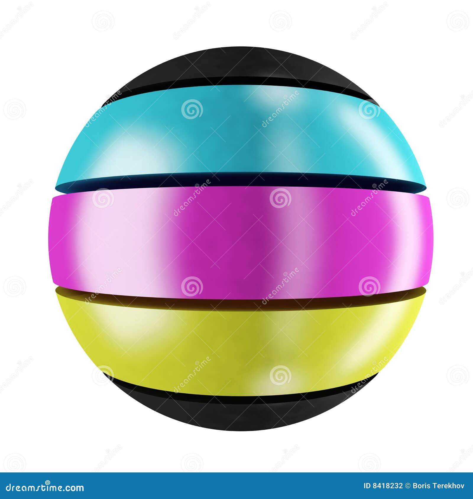 Sphère de cmyk